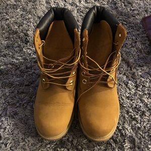 Brown worker boot booties